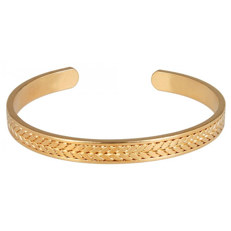 Μεταλλική χρυσή χειροπέδα herringbone
