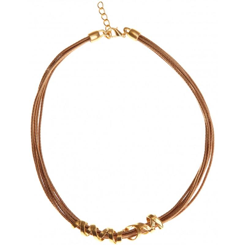 κολιέ metallic ribbon κοντό χρυσό